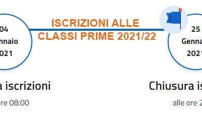 ISCRIZIONI ALLE CLASSI PRIME 2021/22