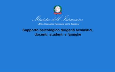 Ministero dell'Istruzione – Supporto psicologico dirigenti scolastici, docenti, studenti e famiglie