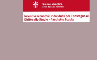 Comune di Firenze – Bando Pacchetto Scuola A.S. 2021/2022
