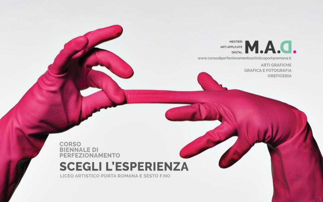 Corso Biennale di Perfezionamento M.A.D. Mestieri Arte Applicata e Digital