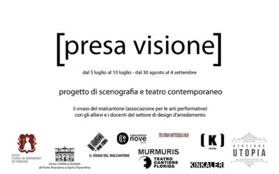 PRESA VISIONE, indagine sulla scena contemporanea. Percorso pratico e teorico sulla scenografia contemporanea per studenti del liceo