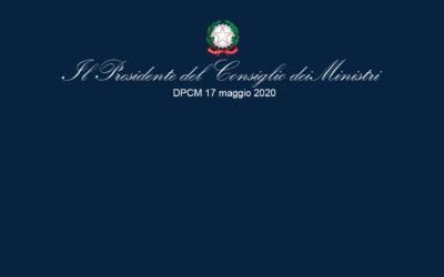 DPCM del 17-05-2020 – Covid-19