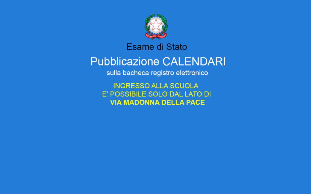 Esame di Stato – AVVISO pubblicazione calendari.