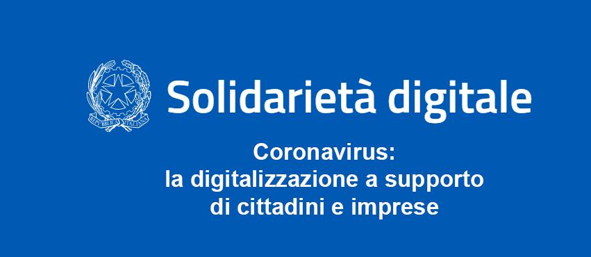 Solidarietà digitale con aziende che mettono a disposizione i loro servizi gratuitamente